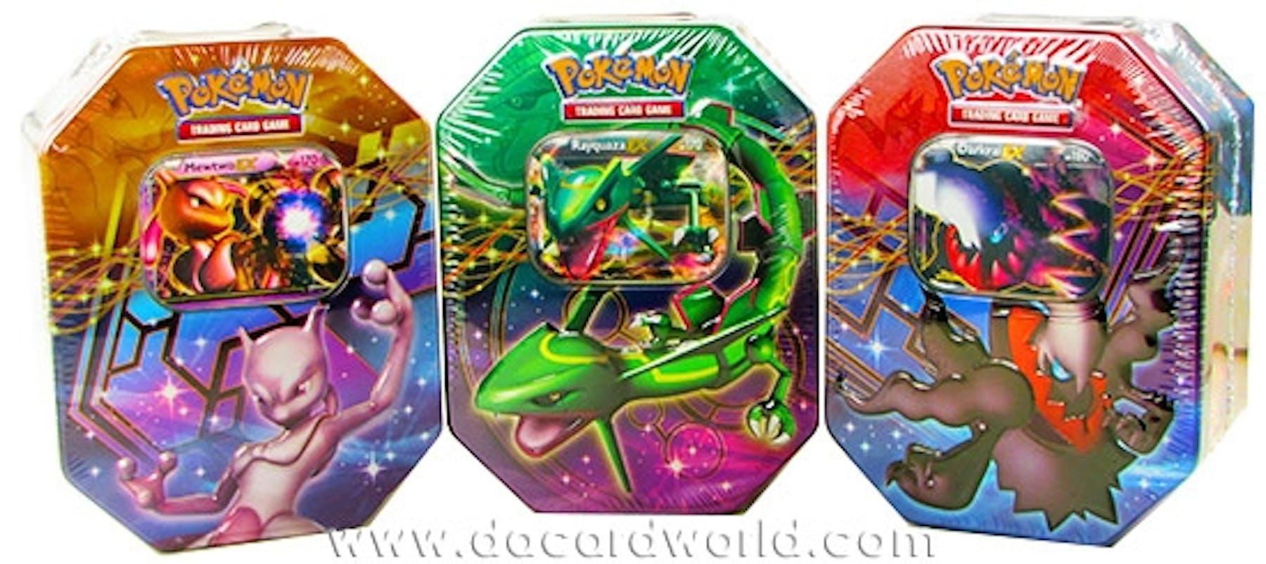 2012 Pokemon Legendary Collection Fall Ex Tin Set Of 3