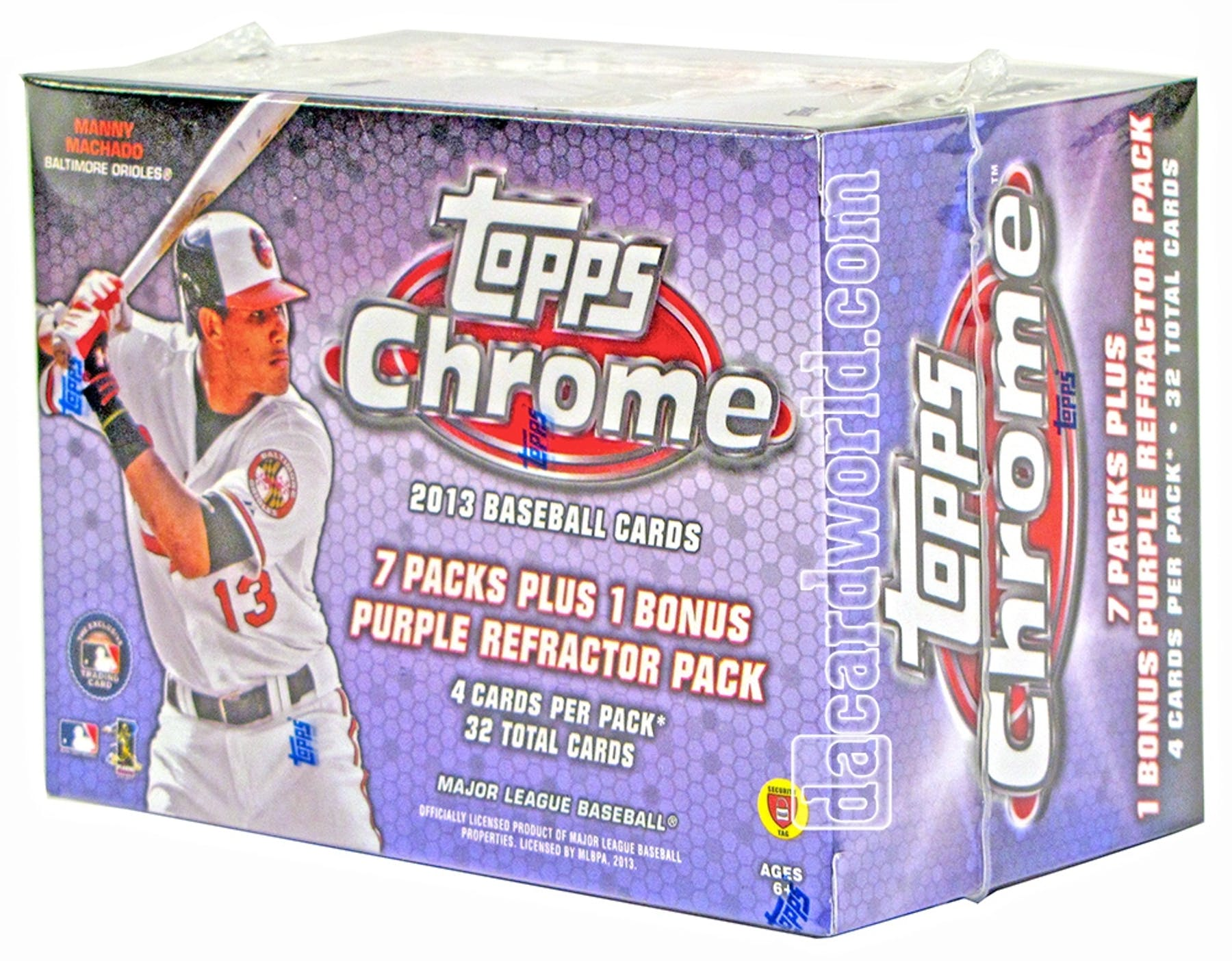 2013 topps chrome baseball 8 pack box one bonus 4 card for 2 box auto con stanza bonus