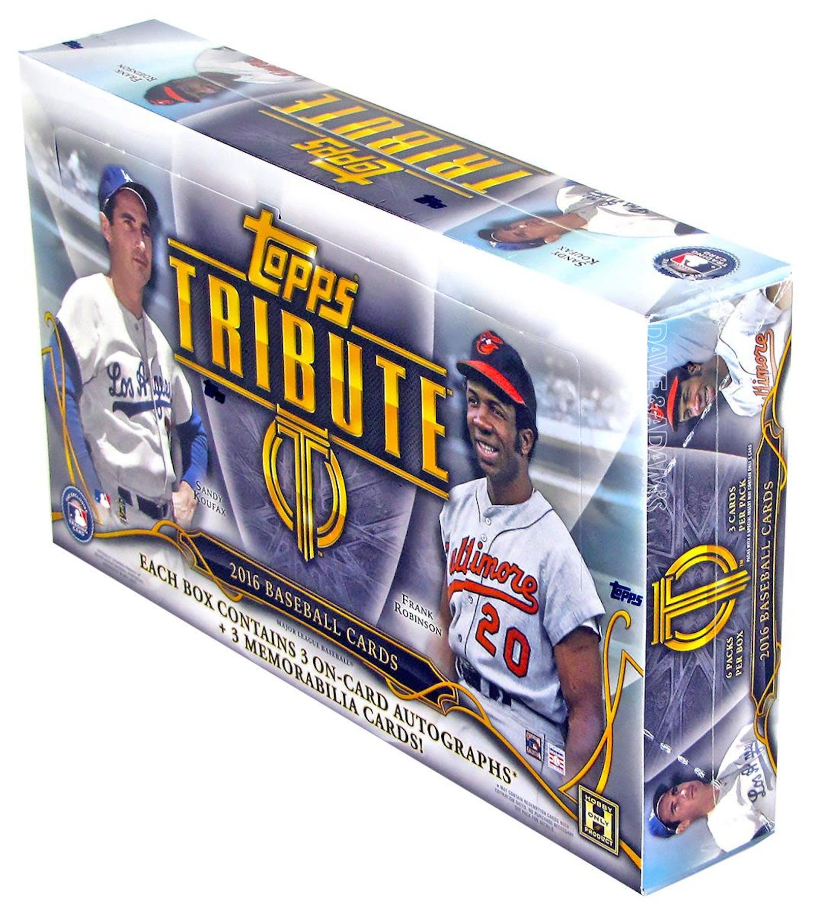 2016 topps tribute baseball hobby box da card world for 16 box auto