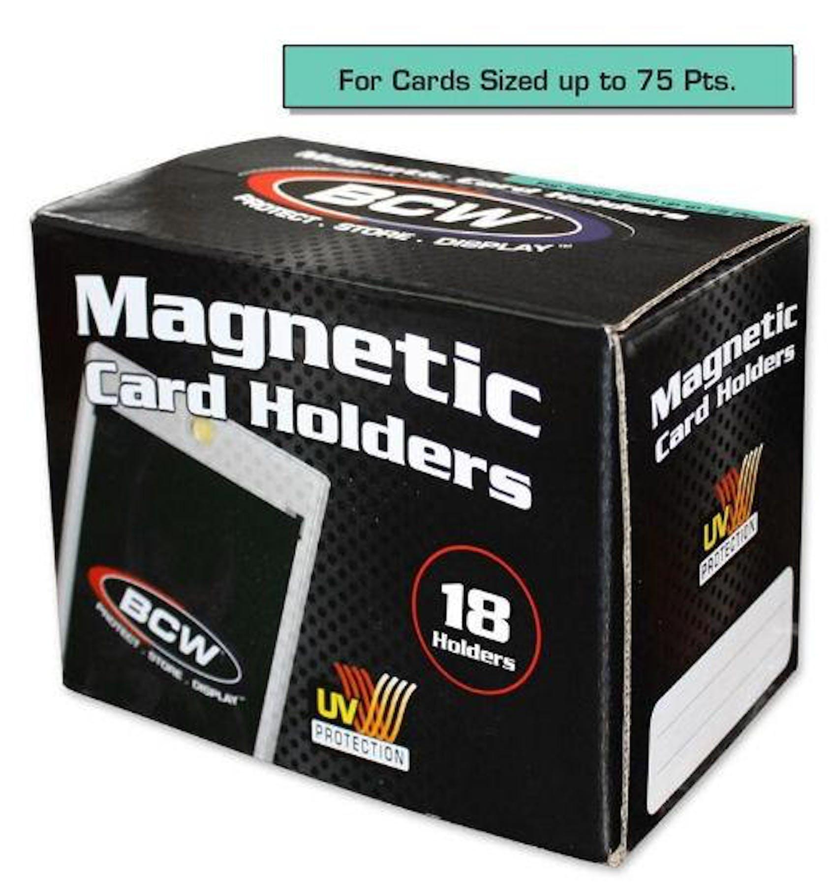 Bcw 75pt Magnetic Card Holder 18 Count Box Da Card World